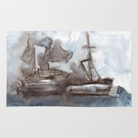 boats Area & Throw Rugs featuring Boats by Marine Koprivnjak
