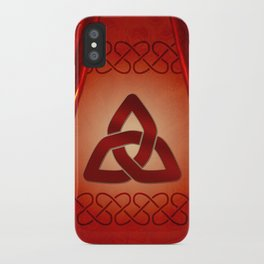 Wonderful celtic knot in red colors iPhone Case
