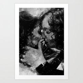 Kiss me in black and white Art Print