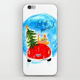Dashing Through The Snow - Holiday Car Christmas Tree iPhone Skin
