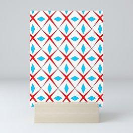 symetric patterns 25 -mandala,geometric,rosace,harmony,star,symmetry Mini Art Print