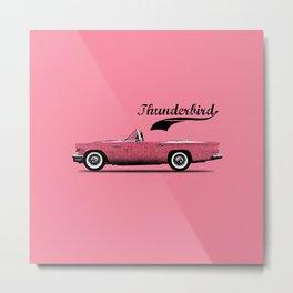 Thunderbird Pink Metal Print