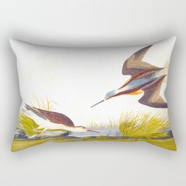Wilson's Phalarope Bird Rectangular Pillow