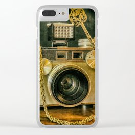 Argus Vintage Camera Clear iPhone Case