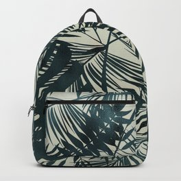 Dark Green Tropical Leaves Backpack