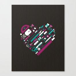 I Heart Work Canvas Print