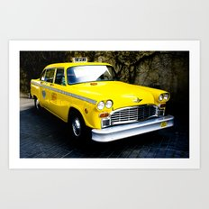 Yellow Cab (1) Art Print