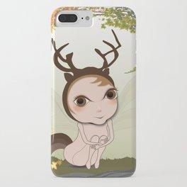 Deery Fairy under Autumn Leaves iPhone Case