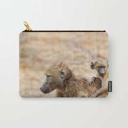 Cute monkey baby and mother Carry-All Pouch