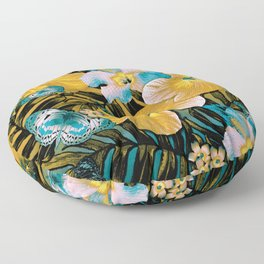 Golden Vintage Aloha Floor Pillow