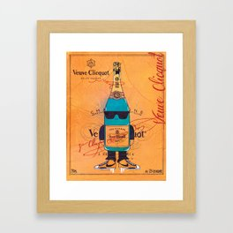 Alcohol character illustration   Framed Art Print