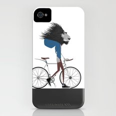 Hipster Lion and his Bicycle iPhone (4, 4s) Slim Case