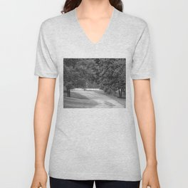 down the driveway Unisex V-Neck