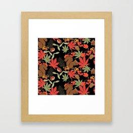 Autumn squirrel Framed Art Print