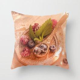 Fresh wild Bernies  Fruits Still life Throw Pillow