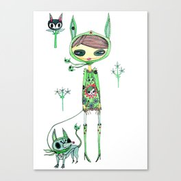punk gree Canvas Print