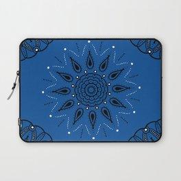 Central Mandala Blue Lapis Laptop Sleeve