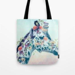 Giraffe Floral TAS Tote Bag