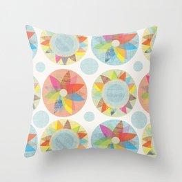 Geometric Florals Throw Pillow