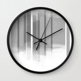 Grey Retro Style Geometric Abstract - Codex Wall Clock