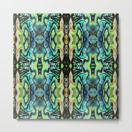 Abalone Symmetry Metal Print