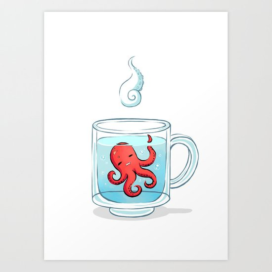 Octopus Tea Art Print