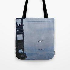 Outerbanks Bay Landscape Scene Tote Bag