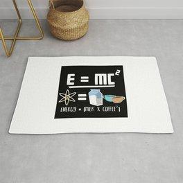 E=MC2 Energy Milk Coffee Rug
