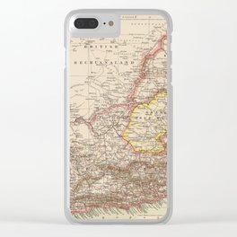 Vintage Map of South Africa (1895) Clear iPhone Case