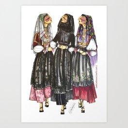 Dorgali Women Art Print