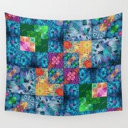 High Definition Geometric Quilt 1 Wall Tapestry