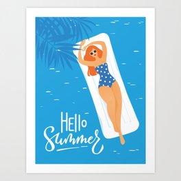 Hello Summer #3 Art Print