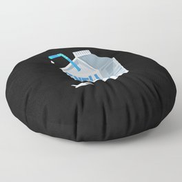 Dairy Free Dairy Allergy Awareness Nemesis Enemy Floor Pillow