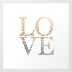 GOLD LOVE Art Print