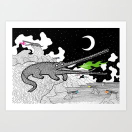 Crocodiles Art Print
