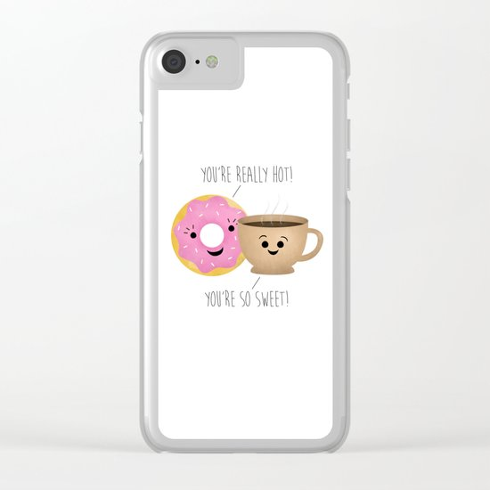 Donut and Coffee  |  Really Hot and So Sweet Clear iPhone Case