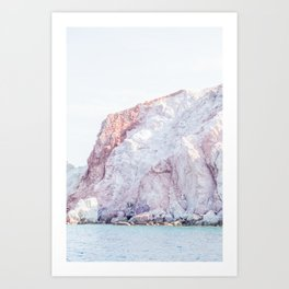 Milos pink seaside Art Print