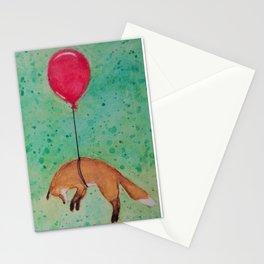 Birthday Fox (green version) Stationery Cards