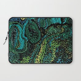 cheerful handmade embroidery in the digital world Laptop Sleeve