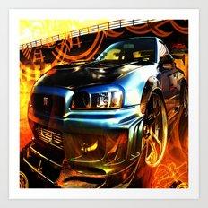 car,3d,abstract Art Print
