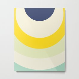 Cacho Shapes X Metal Print