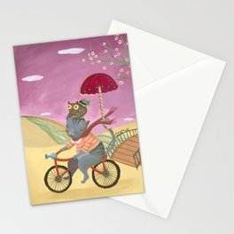Riding the bike. Stationery Cards