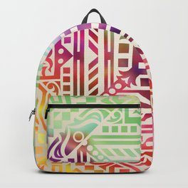 mandala17 Watercolor Mandala Backpack