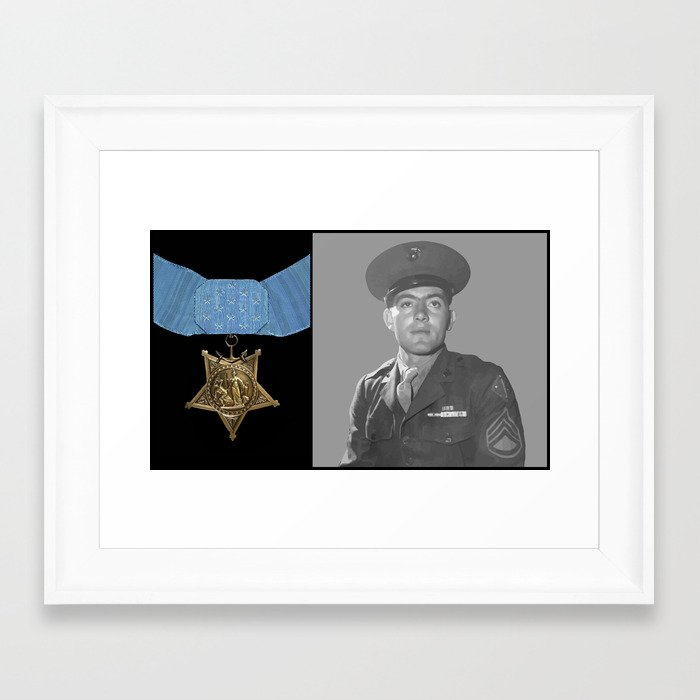 John Basilone and The Medal of Honor Framed Art Print by ...