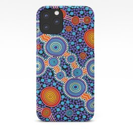 Authentic Aboriginal Art - The Journey Blue iPhone Case
