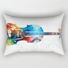 Colorful Violin Art by Sharon Cummings Rectangular Pillow