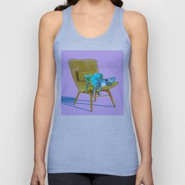 animals in chairs #12 Cats Unisex Tank Top