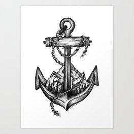 Anchor landscape Art Print