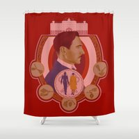budapest Shower Curtains featuring Grand Budapest by Jessica Gawinski