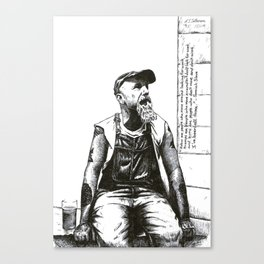 Portrait of American Blues singer Seasick Steve Canvas Print